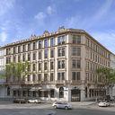 مدل سه بعدی ساختمان آپارتمان نما شهر اروپایی رومی کلاسیک قرون وسطی ساختمان نما مدرن