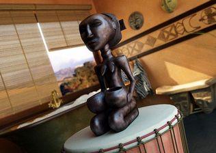 مدل دکوراسیون آفریقایی ظرف مجسمه