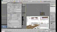 فیلم آموزش مکس وی ری نورپردازی متریال مدلسازی میز ناهارخوری رندر پست پروداکشن فوتوشاپ آشپزخانه تری دی مکس