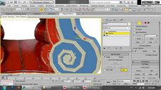 فیلم آموزش مدل سازی آبجکت کلاسیک استیل تری دی مکس وی ری شرکت ویزکوربل