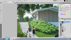 فیلم آموزش پست پروداکشن فوتوشاپ کنتراست رنگ کامپوزیت افکت دوربین وی ری تری دی مکس شرکت ویزکوربل