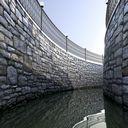 تکسچر متریال دیوار سنگی بلوکی آجری قدیمی رمی باستانی